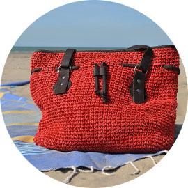 Sac plage Lima Rouge